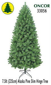 Details About 7 5ft Eco Friendly Oncor Slim Alaska Pine Christmas Tree