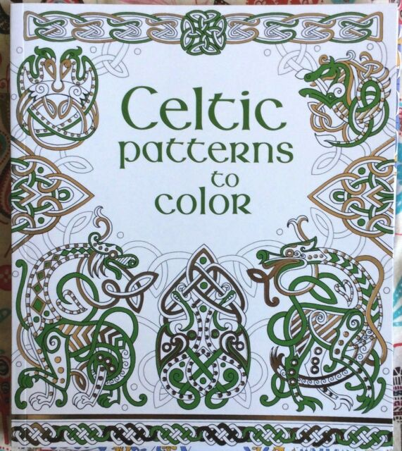 Usborne Coloring Book Celtic Patterns NEW Paperback