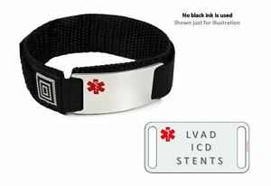 Image Is Loading Lvad Icd Stents Sport Medical Alert Id Bracelet