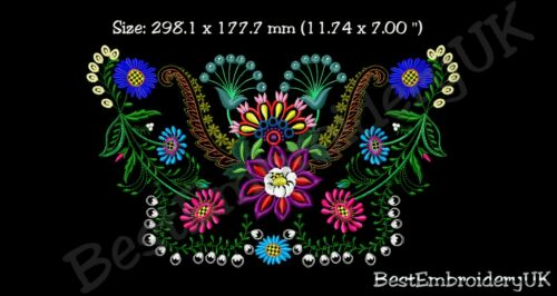 DRESS Embroidery Handbag MACHINE EMBROIDERY DESIGNS FLOWERS EMBROIDERY