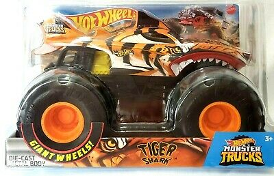 New 2020 Hot Wheels Monster Trucks Tiger Shark Monster Jam 1 24 Scale Ebay