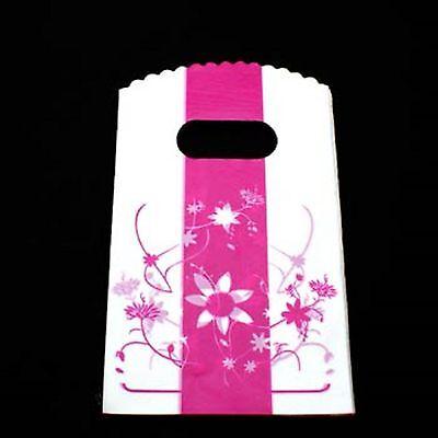 lot 50 pochettes sac sachet plastique fantaisie 20x15 rose  blanc cadeaux,bijoux