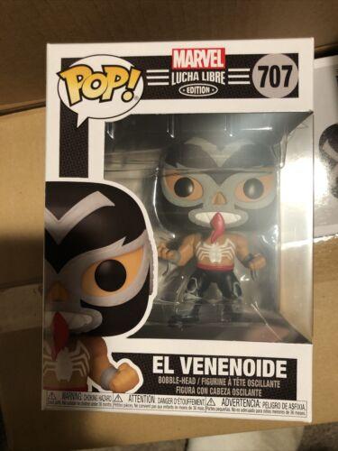El Venenoide Venom MOC Marvel 707 Luchadores Funko Pop Cmb Ship