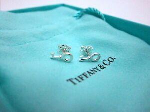 NEW-Tiffany-amp-Co-Sterling-Silver-Mini-Key-Stud-Earrings