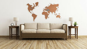 Details about Сork World Map World Map Push Pin Map Wood Wall Art World Map  Wall Art Wooden