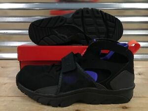 more photos 4d998 9f5c8 Image is loading Nike-Air-Trainer-Huarache-Running-Shoes-Black-Anthracite-