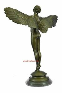 Hand-made Signed: A.A.Weinman, Bronze Naked Icarus