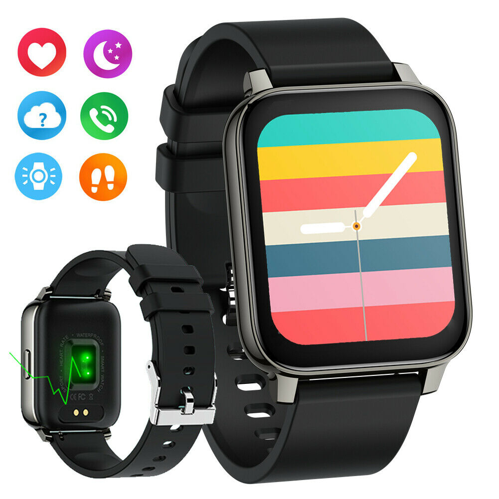 2021 Bluetooth Smart Watch 1.69 Inch Touch Screen Heart Rate For Android IOS