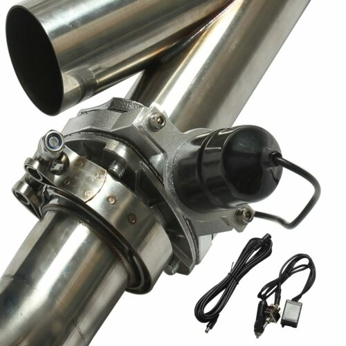 """3/"""" 76mm Mannal Electric Exhaust Catback Downpipe Cutout E-Cut Out Valve System"""