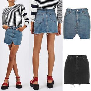 femmes-compatible-avec-dechire-ourlet-Skinny-fin-taille-haute-Jeans-decontracte