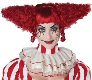 Creepy Clown Wig Adult Costume Accessory
