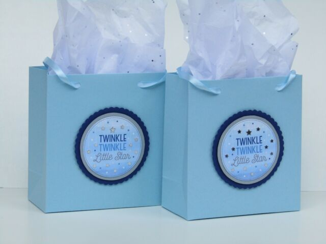 Big Dot of Happiness Twinkle Twinkle Little Star Baby Shower or Birthday Party Goodie Gable Boxes Set of 12 Treat Box Party Favors