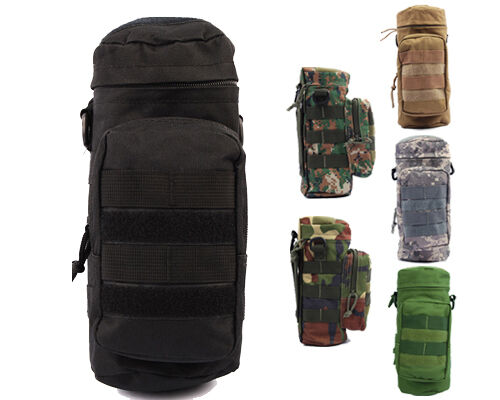 Hunting Molle Zipper Camo Water Bottle Utility Medic Pouch w Small Mess Pouch