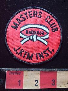Master Instructor Patches 4 pcs Set Embroidery MMA Taekwondo Matial Arts Karate
