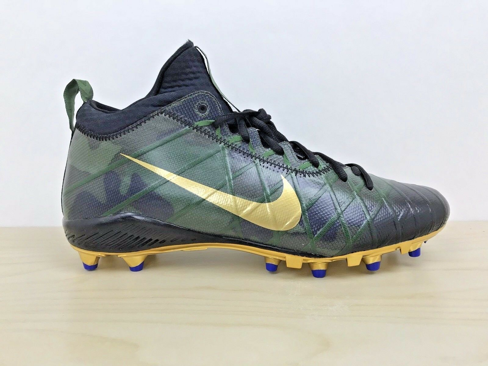 NIKE ALPHA FIELD GENERAL ELITE 3 TD CAMO/GOLD Football Cleats Size 14 833390-371