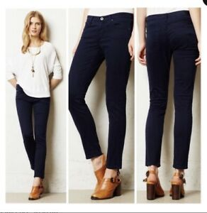 AG-Adriano-Goldschmied-THE-STEVIE-SLIM-STRAIGHT-Ankle-Jeans-Navy-Sateen-Pant-28