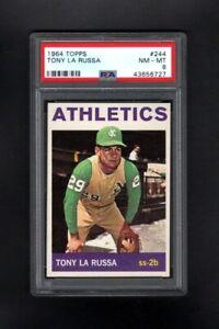 1964-TOPPS-244-TONY-LARUSSA-OAKLAND-ATHLETICS-PSA-8-NM-MT-CENTERED