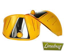 Mooneyes Amber Headlight Shield Eye Brow Visor x2 VW Bus Van Beetle Head Light