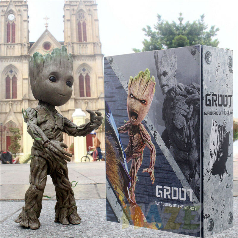 Guardians of of of the Galaxy Hot Toys LMS005 Groot PVC Action Figure HT1 1 Model d08c1e