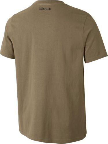 100/% Baumwolle Härkila T-Shirt WILDLIFE LYNX khaki