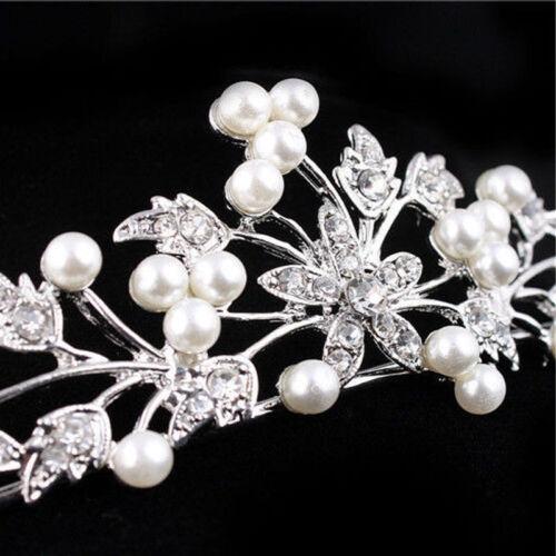 Wedding Bridal Crystal Rhinestone Crown Comb Tiara Hair Band Flower Gift S8C11