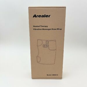 Arealer Heated Therapy Vibration Massager Knee Wrap One Size Comfort Black NEW
