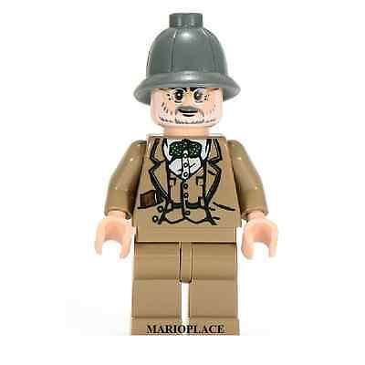 LEGO  INDIANA JONES MINIFIGURE 2009 Henry Jones Senior Dark Gray Helmet