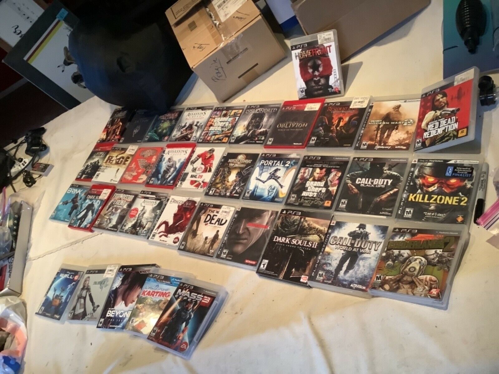 38 Minty PS3 games, cases, Working unit, cords,controllers