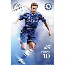 Juan Mata Chelsea FC Poster English Premier League new Blues EPL Spain