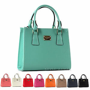 New-Fashion-Women-Handbag-Ladies-Faux-Leather-Mini-Tote-Cross-Body-Shoulder-Bag