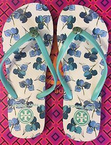 7be40f2c13b69 L  K! ON SALE Size 6 NEW Tory Burch Thin Flip Flops Printed Sandals ...