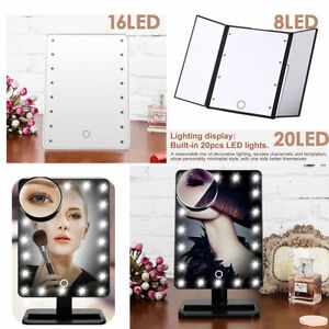8/16/20 LED Light Makeup Cosmetic Vanity Mirror Tabletop Touch Magnifying W8