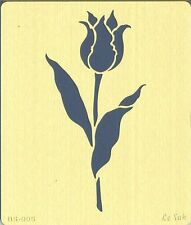 Pochoir à estamper Laiton 7x8 cm Fleur Tulipe BS-005 Brass Stencil Flower