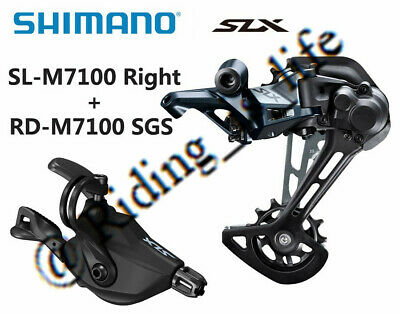New SHIMANO SLX M7100 1x12 12 Speed MTB Groupset---Right Shifter+RD SGS For 51T