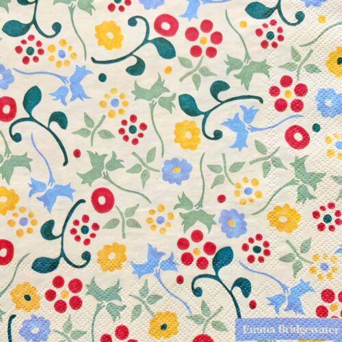 4x serviettes en papier découpage//Craft Emma Bridgewater Printemps Motif Floral