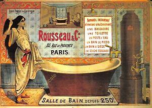 CP Poster Advertising Rousseau & Co Paris Room Of Bath Edit Nugeron J14