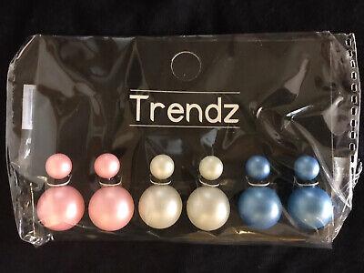 Metall Stil Imitation Perle Anhänger Ohrringe Pfirsich Herz Ohrringe Weibli W8B9