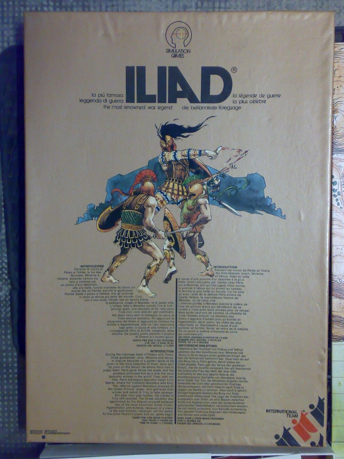 International  Team and Iliad Used  Game Table boardgame  connotation de luxe discret