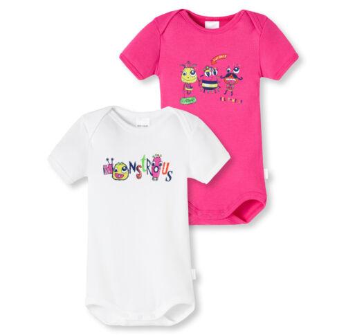 SCHIESSER Baby Body 2er Sparpack Gr 68 74 80 86 92 98 104 Bodies Halbarm 100/% CO