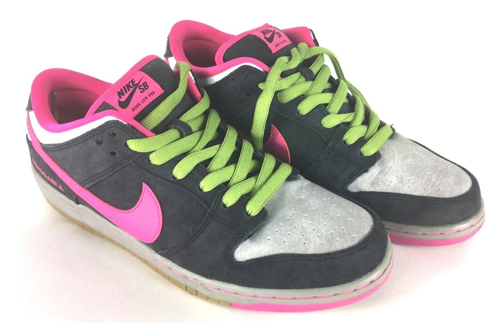 Nike Dunk Low Premium SB QS Disposable Grey Pink Gum 504750-061 Sz 12