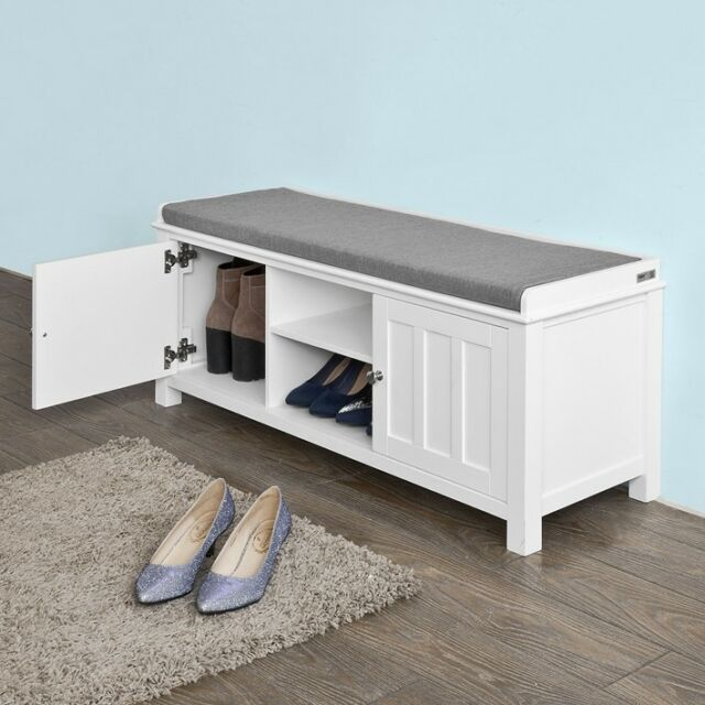 Marvelous Shoe Cabinet Bench Seat Part - 14: SoBuy® Shoe Storage Bench With Doors, Storage Cubes U0026 Seat Cushion,FSR35-