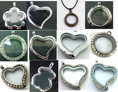 New 30mm Floating Memory living Glass Locket fit DIY floating charm Multi