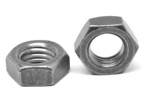 10-32-x-3-8-034-x-1-8-034-Fine-Thread-Hex-Machine-Screw-Nut-Plain-Finish
