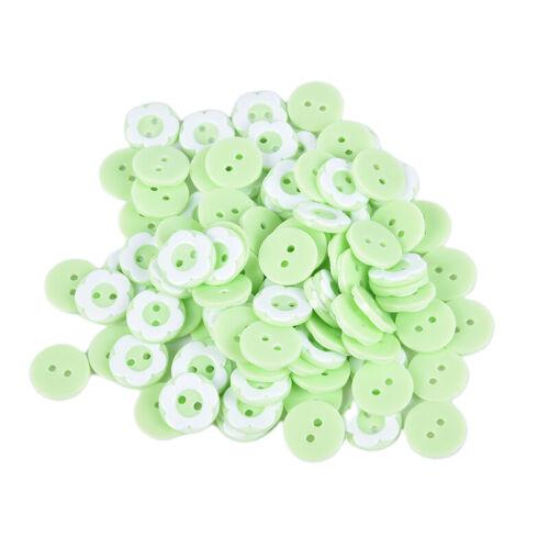 100PCS 13MM Flowers Shape Resin Buttons Coat Sewing Clothes Decoration Button/_ZT