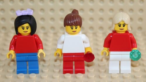 LEGO 3x Girl Minifigure NEW!!!!!