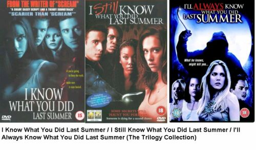 1 of 1 - I KNOW WHAT YOU DID LAST SUMMER TRILOGY DVD ALL 3 MOVIE FILM STILL I'LL ALWAYS