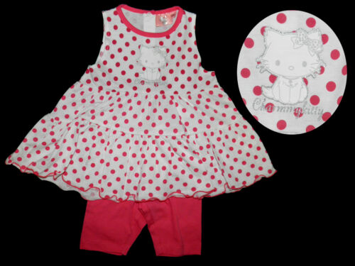 Hello charmmy kitty set túnica leggings camisa combi 68 74 80 86 92 nuevo rosa rojo