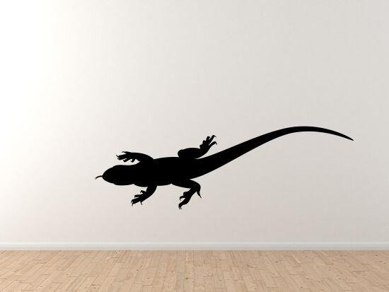 Animals Silhouette Biology - Detailed Lizard Anole Version 4 - Vinyl Wall Decal