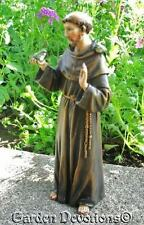 """Detailed 4"""" ST. FRANCIS OF ASSISSI Garden Statue"""