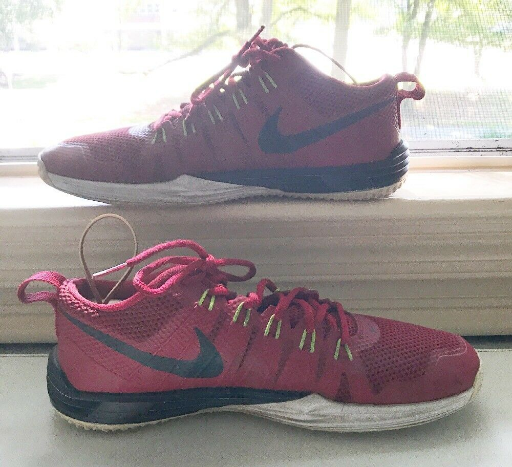 Nike Lunar TR1 Men's Flywire Red/Black/Green Athletic Shoes Comfortable